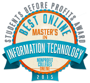 Best Online Master's in Information Technology: Students Before Profits Award 2015