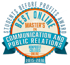 Best Online Master's in Communication and Public Relations: Students Before Profits Award 2015-2016