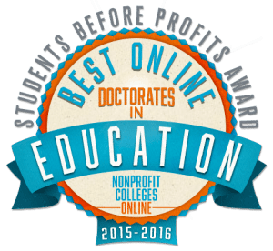 Best Online Doctorates in Education: Students Before Profits Award 2015-2016