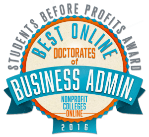 Best Online Doctorates of Business Administration - Students Before Profits Award 2016