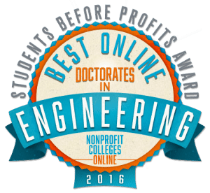 Best Online Doctorates in Engineering - Students Before Profits Award 2016