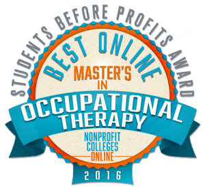 Best Online Master's in Occupational Therapy - Students Before Profits Award 2016