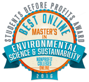 Best Online Master's in Environmental Science & Sustainability - Students Before Profits Award 2016