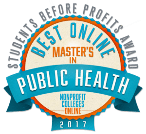 BEST ONLINE MASTER'S IN PUBLIC HEALTH: STUDENTS BEFORE PROFITS AWARD 2017