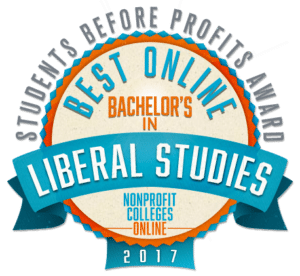 BEST ONLINE BACHELOR'S IN LIBERAL STUDIES - STUDENTS BEFORE PROFITS AWARD 2017