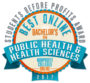 Best Online Bachelor's in Public Health / Health Sciences: Students Before Profits Award 2017