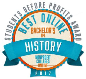 Best Online Bachelor's in History - Students Before Profits Award 2017