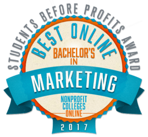 Best Online Bachelor's in Marketing - Students Before Profits Award 2017