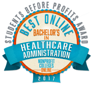 Best Online Bachelor's in Healthcare Administration - Students Before Profits Award 2017