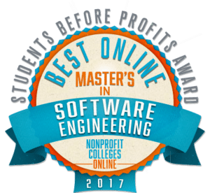 BEST ONLINE MASTER'S IN SOFTWARE ENGINEERING - STUDENTS BEFORE PROFITS AWARD 2017