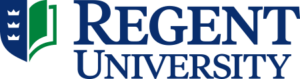 A logo of Regent University for our ranking of the top online colleges for military.