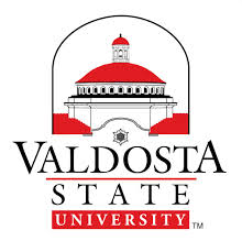 A logo of Valdosta State University for our ranking of the top colleges for online doctorate degrees.