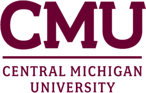 A logo of Central Michigan University for our ranking of the top colleges for online master's degrees.