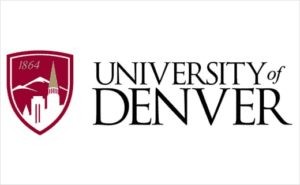 A logo of University of Denver for our ranking of the top colleges for online master's degrees.