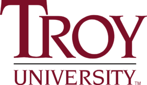 A logo of Troy University for our ranking of the top colleges for online master's degrees.