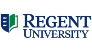 A logo of Regent University for our ranking of the top colleges for online master's degrees.