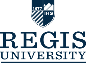 A logo of Regis University for our ranking of the top colleges for online master's degrees.