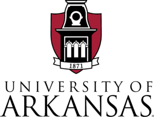 A logo of University of Arkansas for our ranking of the most affordable masters of environmental science.