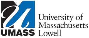 A logo of University of Massachusetts Lowell for our ranking of the top online colleges for military.