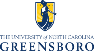 A logo of University of North Carolina Greensboro for our ranking of the top PhD in sports management online.