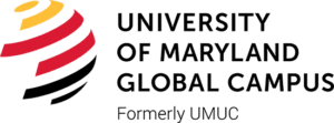 A logo of University of Maryland Global Campus for our ranking of the top online colleges for military.