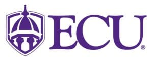 A logo of East Carolina University for our ranking of the most affordable bachelors of construction management.