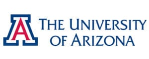 A logo of University of Arizona for our ranking of the top online colleges for military.