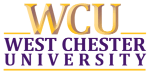 A logo of West Chester University for our ranking of the most affordable online schools in Philadelphia.