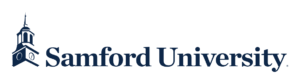 A logo of Samford University for our ranking of the top online colleges for military.