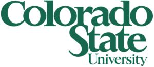 A logo of Colorado State University for our ranking of the top colleges for online master's degrees.