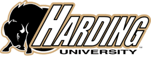 A logo of Harding University for our ranking of the top online colleges for military.