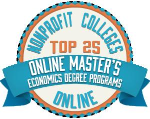 Online Master's in Economics Degree Programs Badge
