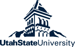 A logo of Utah State University for our ranking of the top online colleges for military.