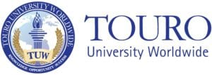 A logo of Touro University Worldwide for our ranking of the top doctorates in psychology online.