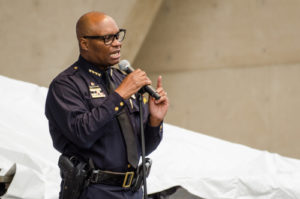 Image of police chief for our FAQ about what you can do with an online PhD in Criminal Justice
