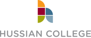 A logo of Hussian College for our ranking of the most affordable online schools in Philadelphia.