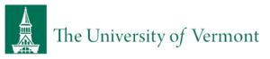 A logo of University of Vermont for our ranking of the top PhD in sports management online.