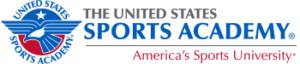 A logo of United States Sports Academy for our ranking of the top PhD in sports management online.