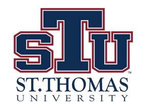 A logo of St. Thomas University for our ranking of the top PhD in sports management online.