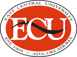 A logo of East Central University for our ranking of the most affordable masters of environmental science.