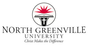 A logo of North Greenville University for our ranking of the most affordable doctorates of ministry.